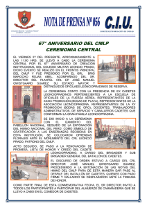 67° aniversario del cmlp ceremonia central