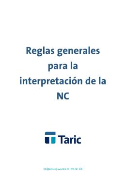 Reglas Generales Para La Interpretaci N Del