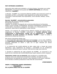 Invitación a comité editorial