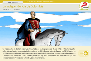 La independencia de Colombia