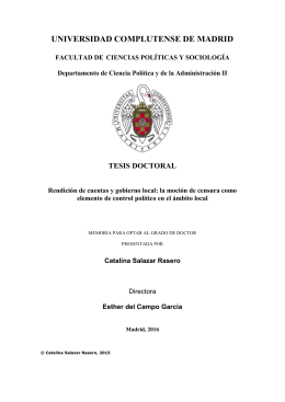 tesis doctoral rendicon de cuentas y gobierno local la mocion de