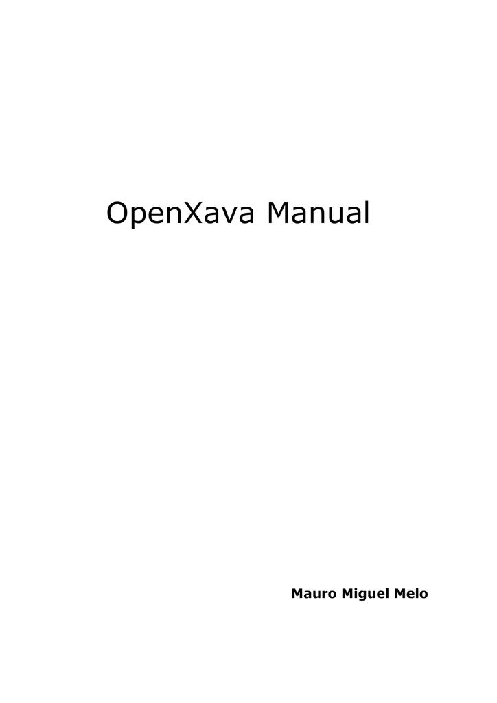 OpenXava Manual - Volver al inicio