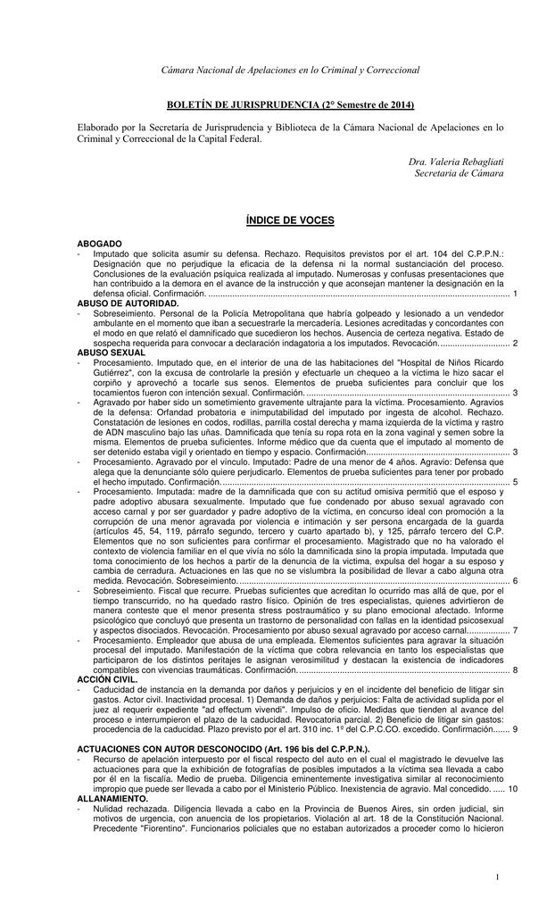 Cámara Nacional de Apelaciones en lo Criminal y Correccional