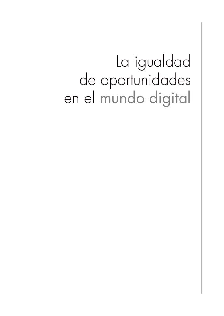 dbc21041f7 La igualdad de oportunidades en el mundo digital © Consejería de Educación,  Ciencia e Investigación. Región de Murcia. © Secretaría General.