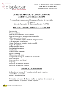 CURSO DE MANEJO Y CONDUCCION DE CARRETILLAS