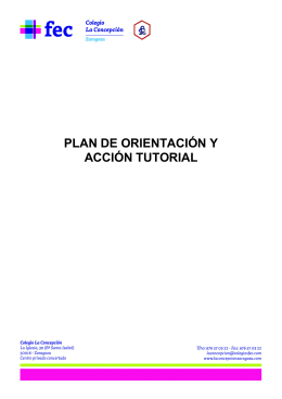 PLAN DE ORIENTACIÓN Y ACCIÓN TUTORIAL