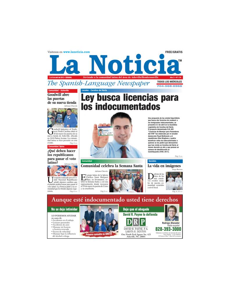 Ley busca licencias para los indocumentados - La Noticia