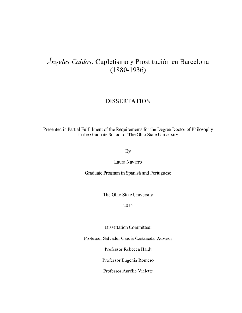 ángeles Caídos Ohiolink Electronic Theses And Dissertations