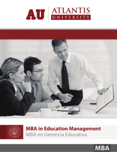 MBA Gerencia Educativa