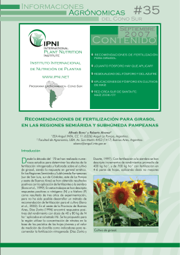 Contenido - International Plant Nutrition Institute