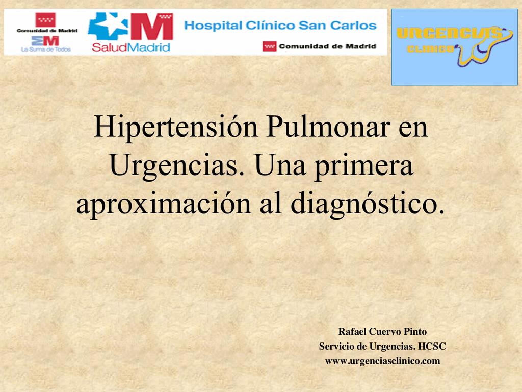 Gravedad moderada de la hipertensión pulmonar