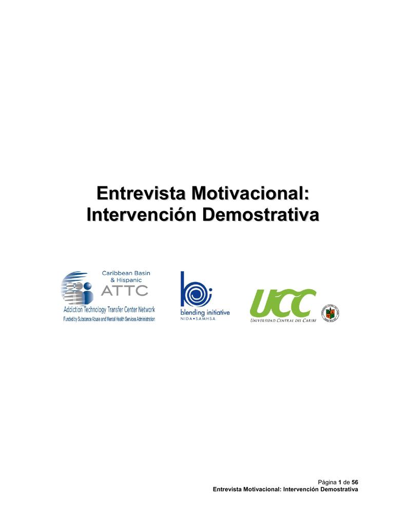 Entrevista Motivacional Intervención Demostrativa