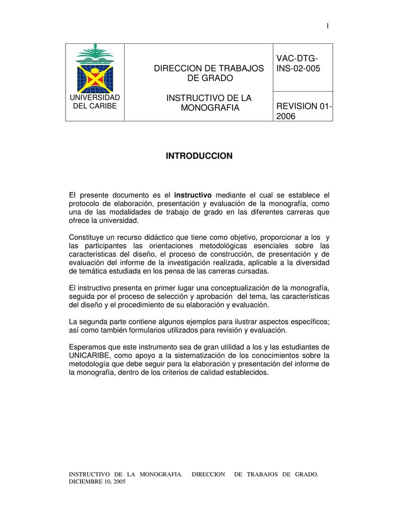 VAC-DTG-INS-02-005 - Universidad del Caribe