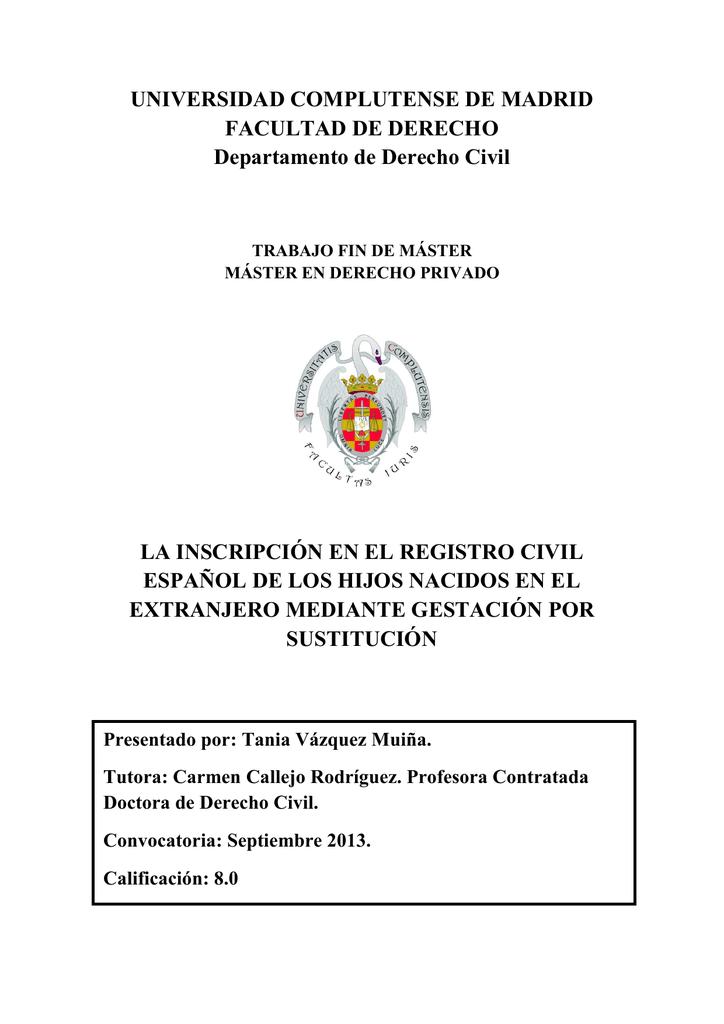 pdf (la inscripción en el registro civil español de los hijos nacidos en