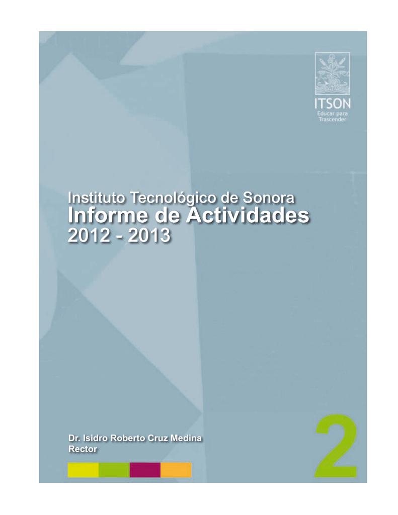 Informe de Actividades 2012 2013