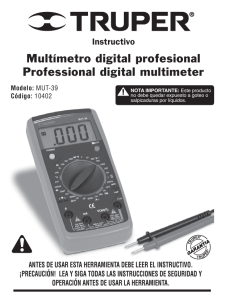 Multímetro digital profesional Professional digital