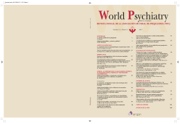 Salud mental pública - World Psychiatric Association