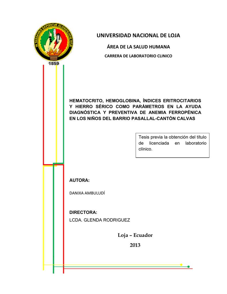Para que sirve el hematocrito pdf