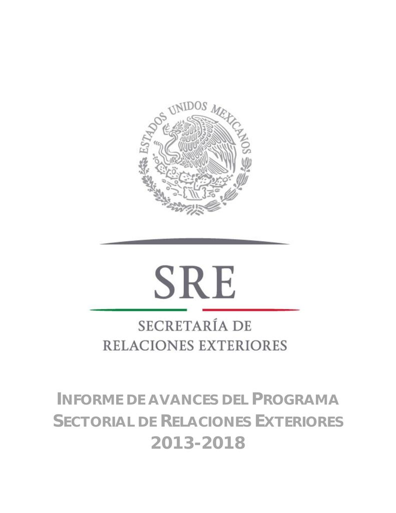informe de avances del programa sectorial de relaciones exteriores