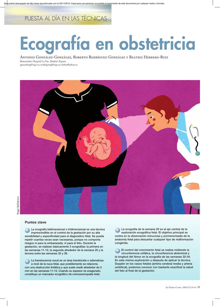 Ecografía en obstetricia - Anales de Pediatría Continuada