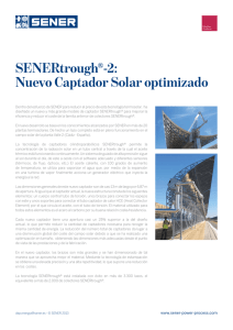 SENERtrough®-2: Nuevo Captador Solar optimizado