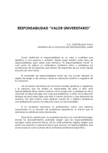 "RESPONSABILIDAD ""VALOR UNIVERSITARIO"""
