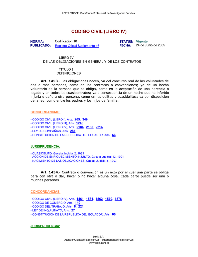 CODIGO CIVIL (LIBRO IV)