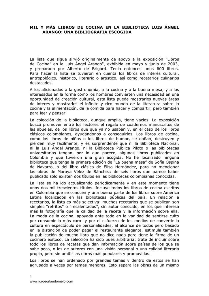 MIL Y MÁS LIBROS DE COCINA EN LA BIBLIOTECA LUIS ÁNGEL