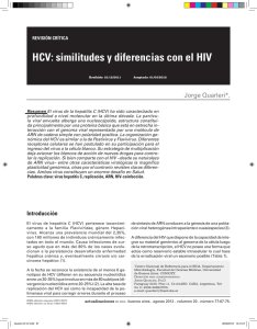 HCV: similitudes y diferencias con el HIV