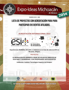 acreditación internacional 2015 - Expo