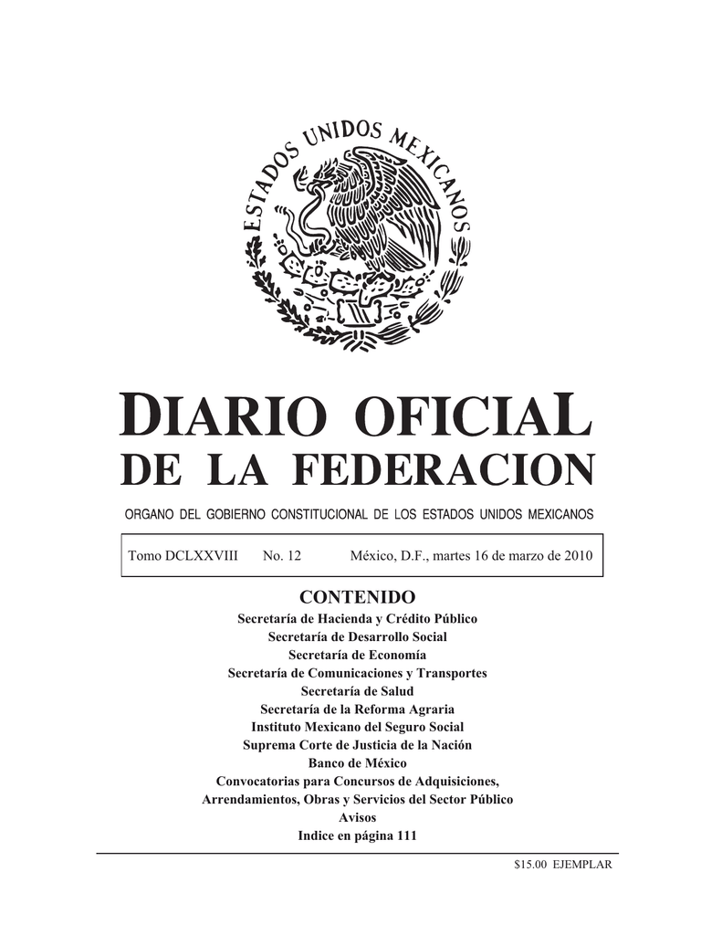 contenido - Diario Oficial de la Federación a145dff26d4fb
