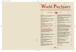 World Psychiatry Spanish Edition – 2014