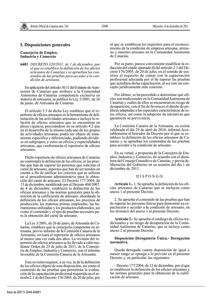 Definición Artesanos Canarias De Oficios Los 3A5RjqL4