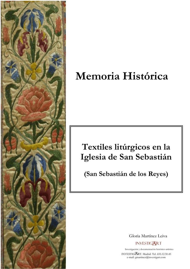 Textiles Litúrgicos En La Iglesia De San Sebastián