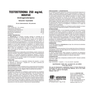 TESTOSTERONA 250 mg/mL