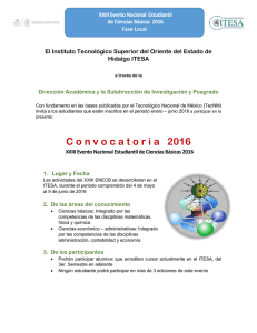 C onvocatoria 2016