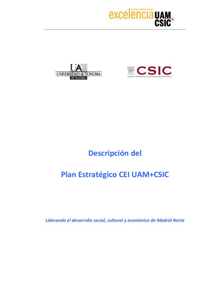 Plan estratgico cei uam csic universidad autnoma de madrid urtaz Image collections