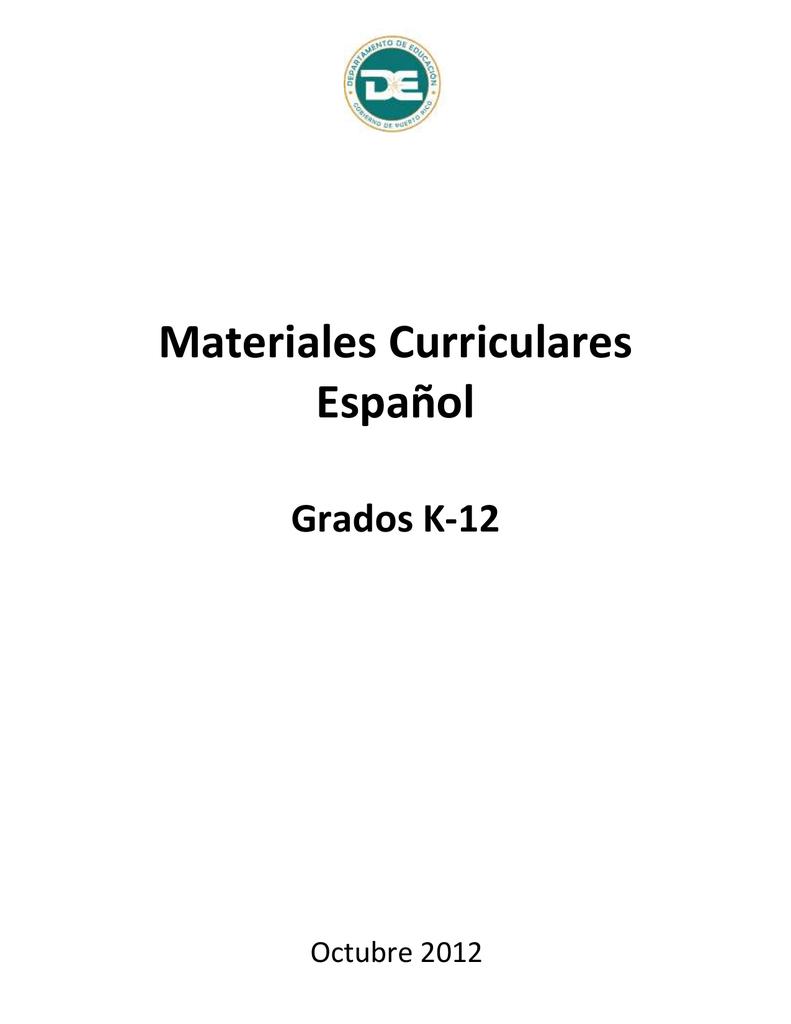 Materiales Curriculares Español