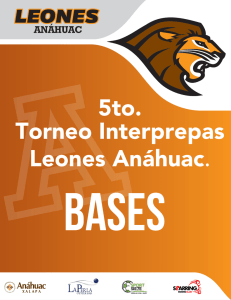 5to. Torneo Interprepas Leones Anáhuac.