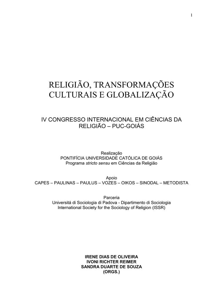 Religio transformaes culturais e globalizao fandeluxe Choice Image