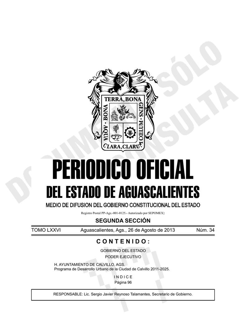 Programa De Desarrollo Urbano De La Ciudad De Calvillo 2011 2025
