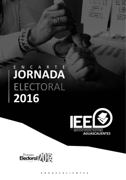 encarte - Instituto Estatal Electoral