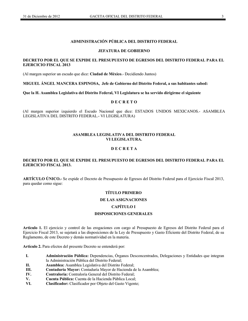 Administración Pública Del Distrito Federal Jefatura