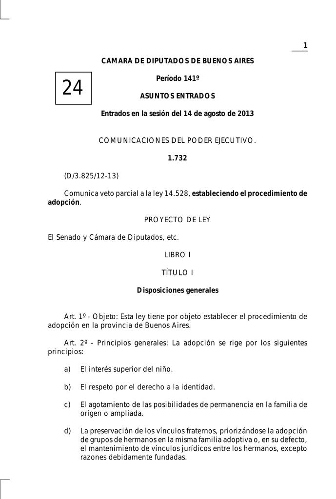 1 CAMARA DE DIPUTADOS DE BUENOS AIRES Período 141º
