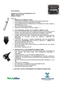 estuche de diagnostico 3.5v. marca: welch allyn modelo: 97200