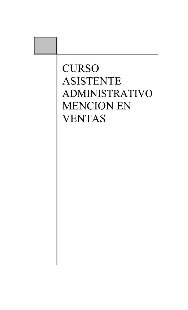 Manual asistente administrativo ventas