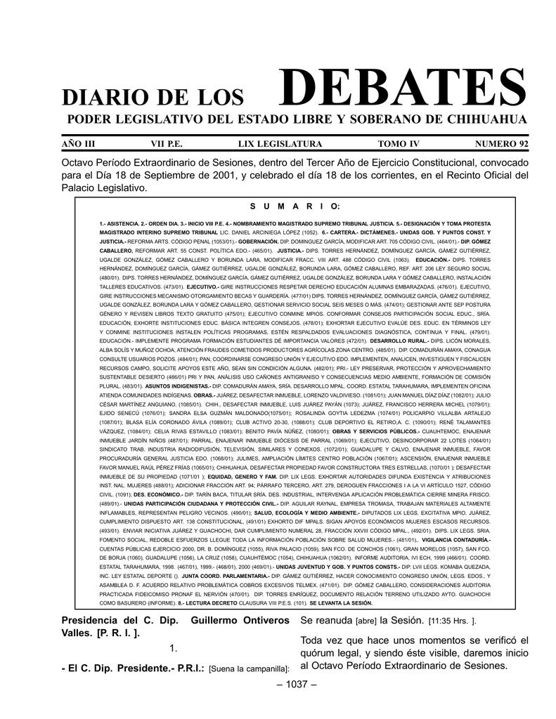 debates - H. Congreso del Estado de Chihuahua