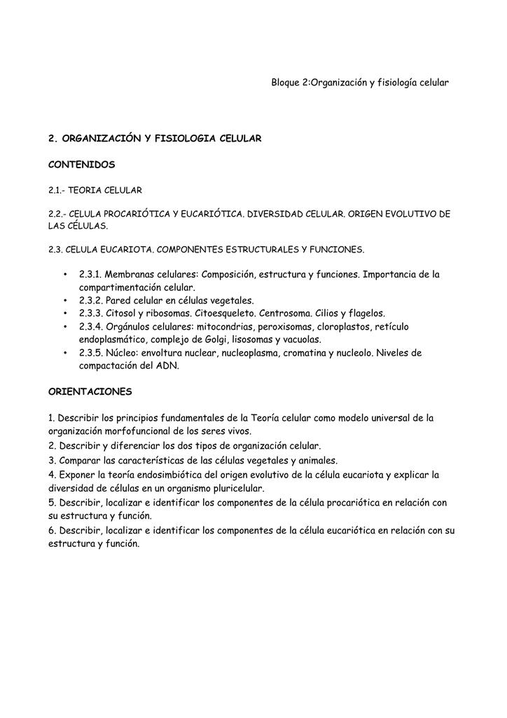 T 6 Organización Y Fisiología Celular