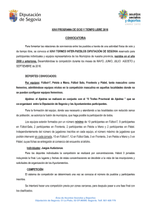 Convocatoria XXVI Torneo Interpueblos 2016