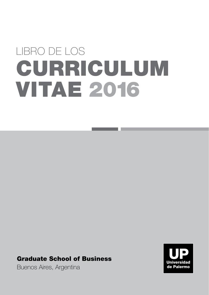 curriculum vitae 2016 - Universidad de Palermo